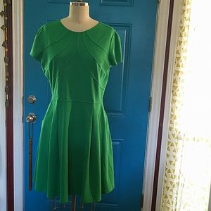 Dress, back zip, pockets